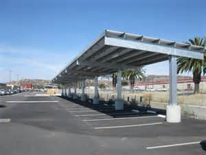Solar Parking Canopy by Solar Array Parking Canopy On A Military Base In Camp