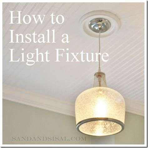 Light Fixture Installation How To Install A Light Fixture