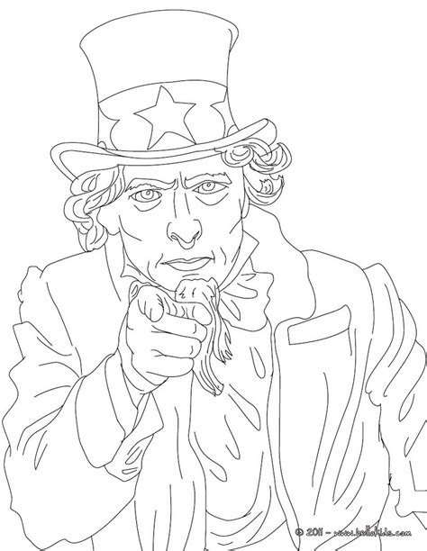 Coloring Page Uncle Sam | uncle sam coloring pages hellokids com