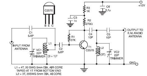 active fm booster circuit scheme