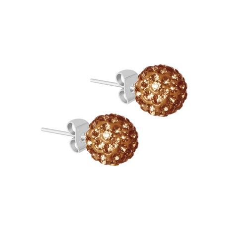 boucles d oreilles shamballa brown major outlet