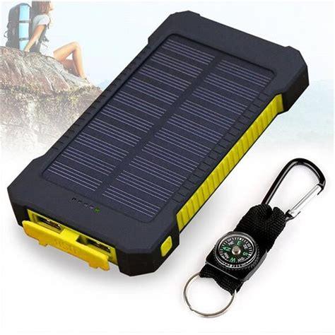 Power Bank Solar Charging queenacc queenacc 10000mah solar charger dual usb