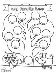 preschool family tree template my family tree printable it forwardmom it forward