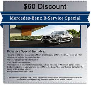 Service Coupons For Mercedes Mercedes Service Coupons Specials Mercedes Of