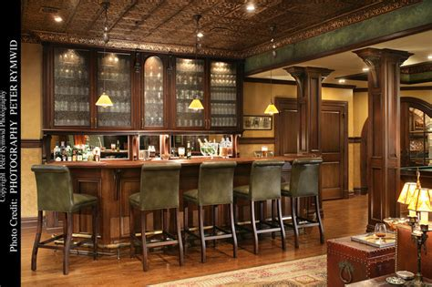 Woods Vintage Home Interiors Pub Bar Traditional Basement New York By Carisa
