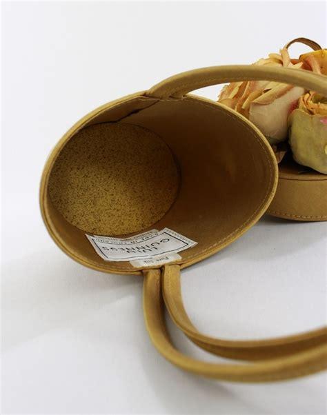 Deal Mini Silk Handbag by Lulu Guinness Yellow Silk Flower Pot Handbag Top Handles