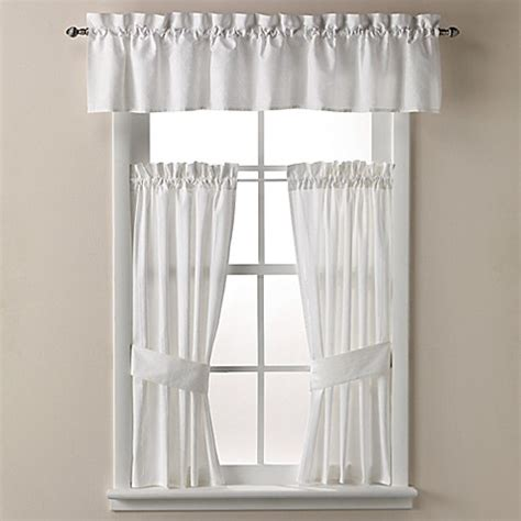 white bathroom window curtains wamsutta 174 cane bath window curtain tier pair and valance