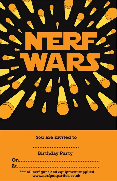 free printable birthday invitations nerf appealing nerf birthday party invitations as free birthday
