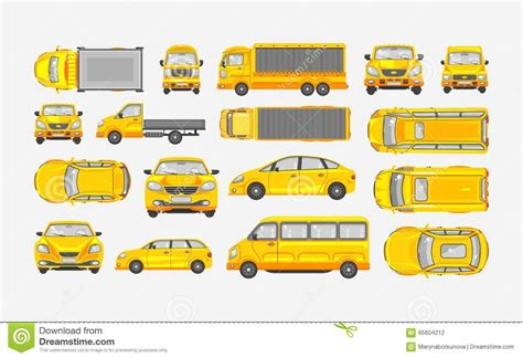yellow light delivery service car sedan hatchback suv pickup vehicle check condition and