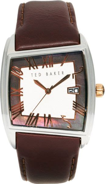 Ted Square Brown ted baker square leather in brown for
