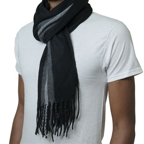 alpine swiss mens scarves winter scarf plaid stole
