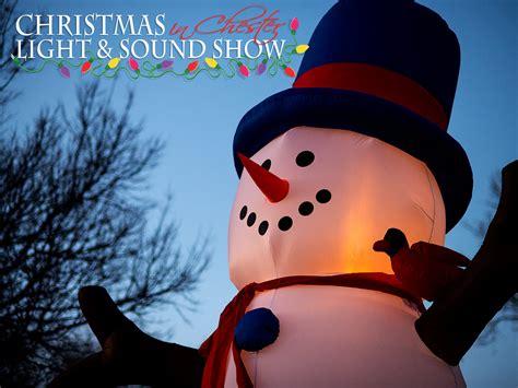 christmas light and sound show in chester nebraska