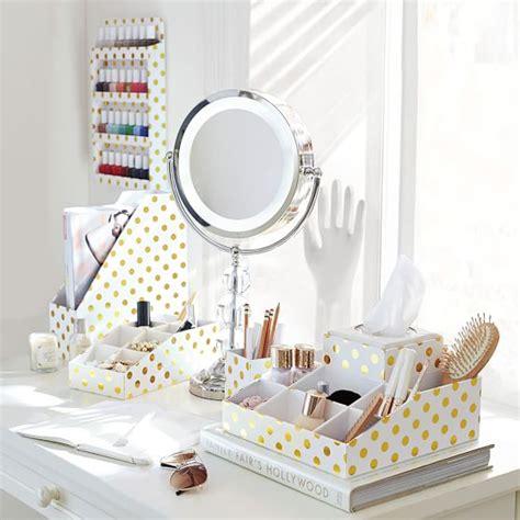 gold desk accessories printed paper desk accessories set gold dot pbteen
