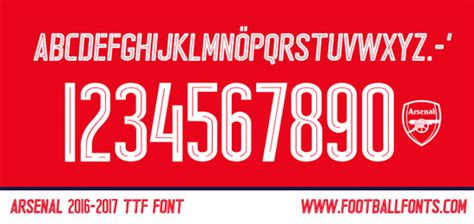 arsenal font arsenal football fonts