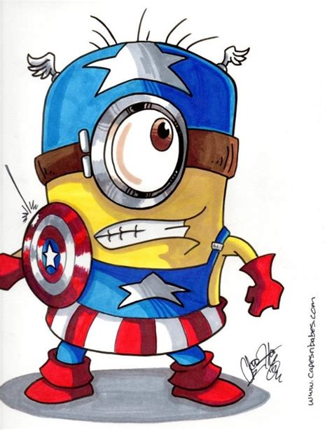 Captain Minion 1 minion captain america minions