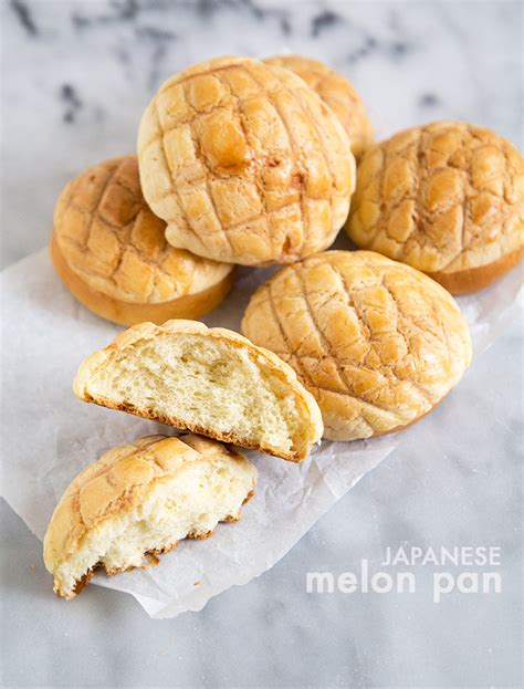 Japanese Melon Pan  The Little Epicurean