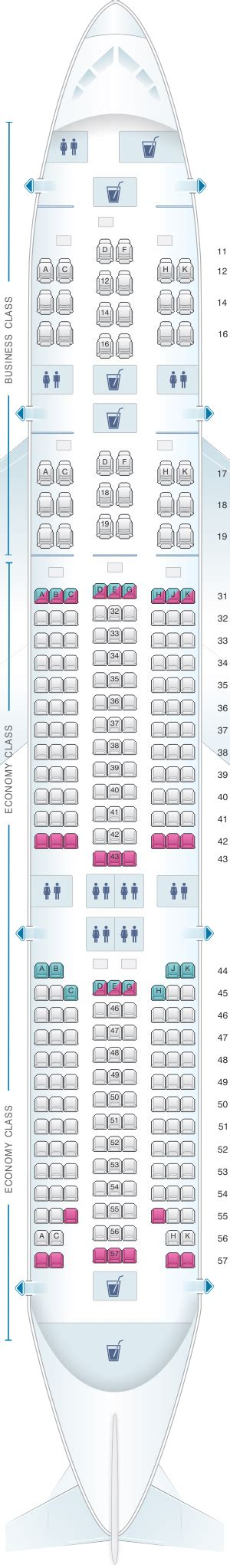 singapore airlines 777 200 seating plan seat map singapore airlines boeing b777 200 sr series