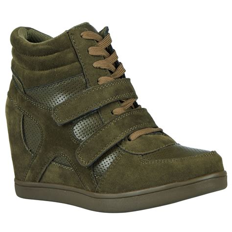 Best Seller Wedges On 02 Wedges thea womens concealed wedges heels trainers high top shoes pumps size new ebay