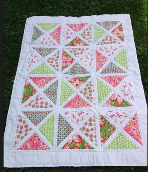 baby charm square quarter square triangle quilt quilting