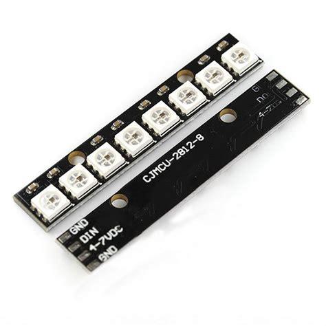 Ws2812 5050 Rgb Led Panel Module 5v 8 Bit Rainbow ws2812 5050 rgb led l panel module 5v 8 bit rainbow led precise for arduino ebay