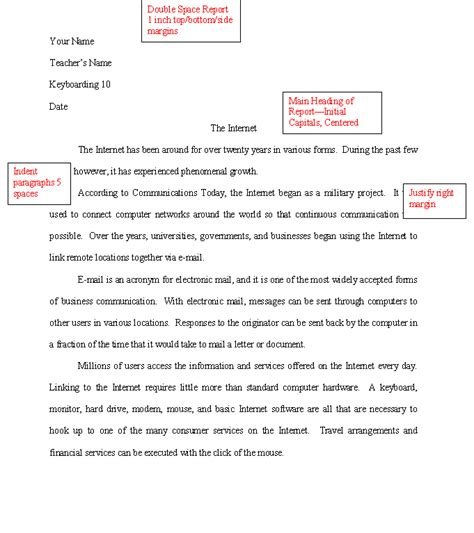 Writing Academic Reports Exles by One Page Academic Reports