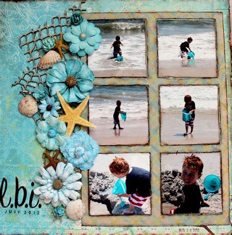 micro layout scrapbook layout l b i small starfish scrapbooking