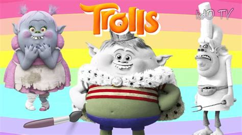 trolls 2016 coloring pages bergens prince gristle chef amp bridget coloring book kids