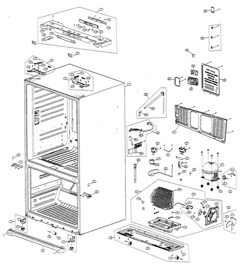 refrigerator parts samsung refrigerator parts diagram