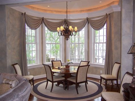 Window Curtains For Dining Room Decor Bay Windows Bow Windows Corner Windows Oh My Contemporary Dining Room Dc Metro By