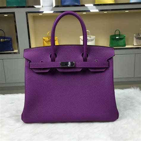 Tas Bag H3rmes Togo Semprem personal tailor hermes p9 anemone purple togo leather birkin bag 30cm hermes crocodile birkin bag