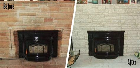 paint brick fireplace before after painting a brick fireplace white before after photos
