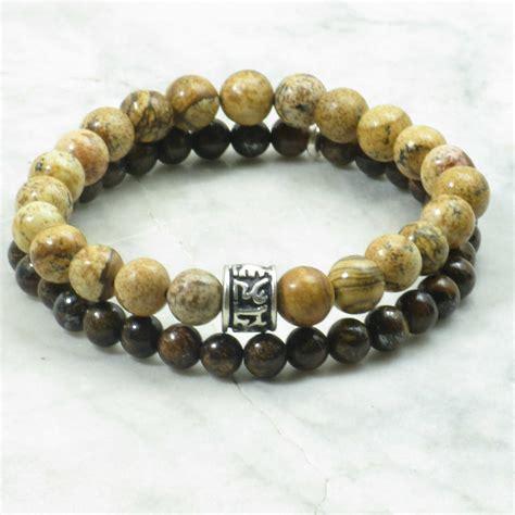 beading gemstones himalaya bracelets for picture jasper mala
