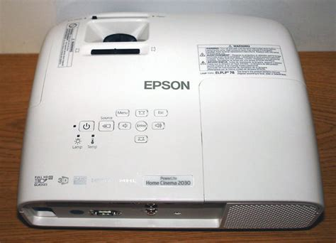 epson powerlite home cinema 2030 3lcd projector photos