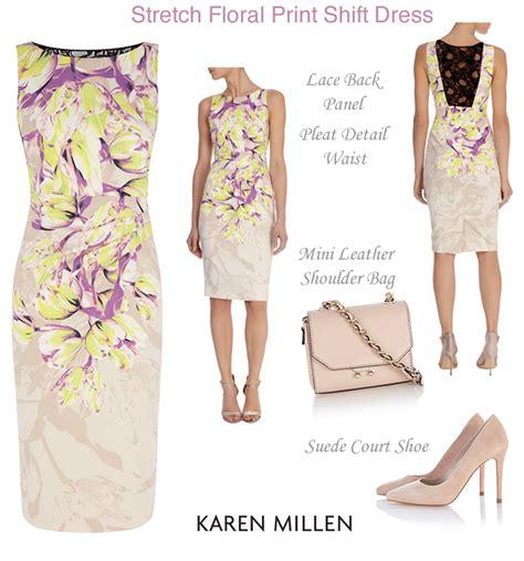 Millen Summer Range by Stretch Floral Print Shift Dresses Millen Occasionwear