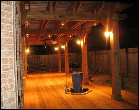 Maybe We Put Sconces On Pergola Posts For The Home Pergola Lighting Pictures