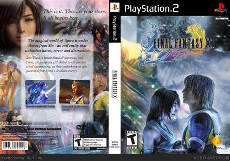 final fantasy x playstation 2 box art cover by shadowsun