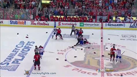 Travis Bench Canadiens Vs Senators Line Brawl May 5 2013 Youtube