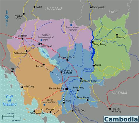 map of cambodia map of cambodia map regions worldofmaps net maps and travel information