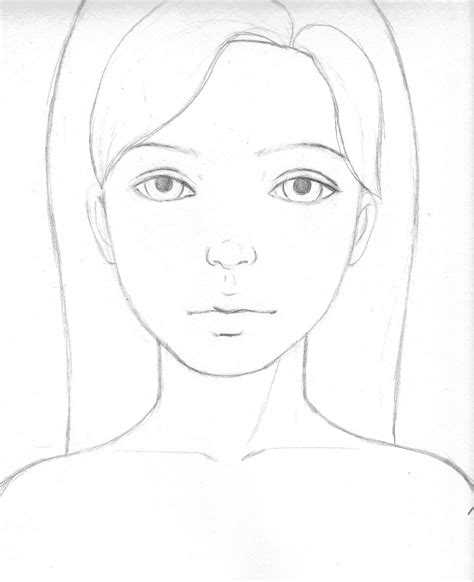 pattern on how to sketch face draw pencil girl face step by step drawing of sketch