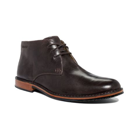 sebago boots sebago tremont chukka boots in brown for mahogany lyst