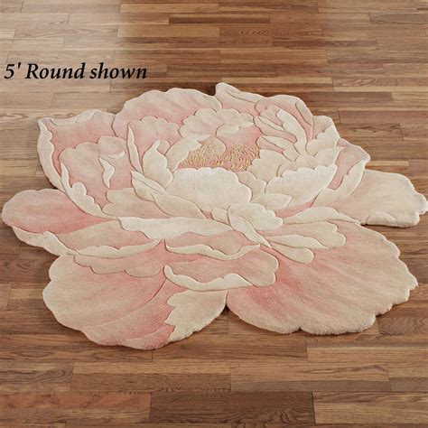 Flower Bath Rug Juliette Flower Rug Blush Rugs Flower And