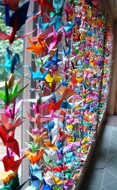 Thousand Origami Cranes - 1000 cranes for my wedding cathy day