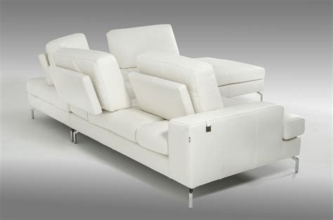 Voyager Sectional by Estro Salotti Voyager Modern White Leather Sectional Sofa
