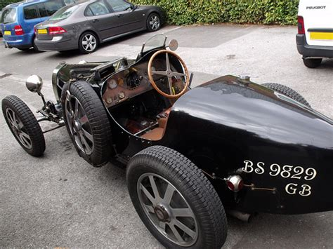 vintage bugatti race car bugatti vintage car at back of manor house solihull