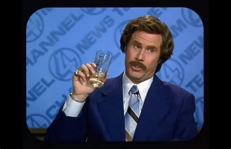 Ron Burgundy Scotch Meme - ron burgundy drinking scotch meme generator