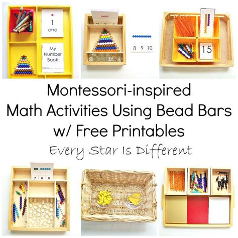 montessori printables preschool 205 best montessori math images on pinterest