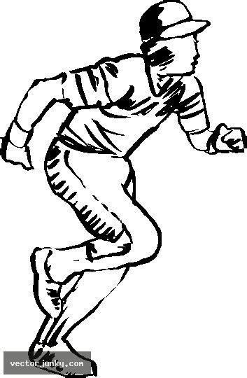 Baseball Player Running Clipart Www Pixshark