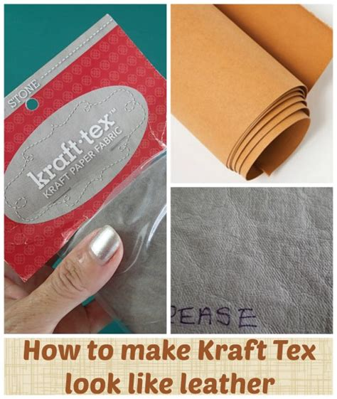 How To Make Fabric Stiff Like Paper - reader tutorial how to make kraft tex look like leather