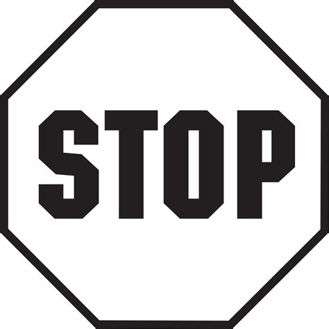 Stop Sign Template Free by Stop Sign Template Printable Clipart Best