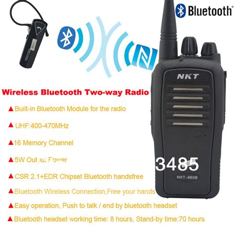 walkie talkie bluetooth apk bluetooth walkie talkie uhf 400 470mhz 16ch 4w built in bluetooth module portable two way radio
